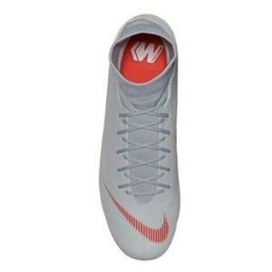 NIKE Gray Orange Soccer Cleats AH7362 060 Size 12